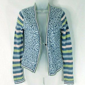 Oilily Cardigan Sweater XS Women Floral Stripped